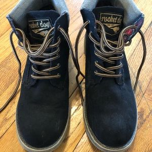 "Rocketdog Black Suede ""Work"" Boots"
